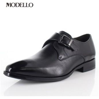 マドラス モデロ madras MODELLO DM5123 BLA メンズ フォーマル ビジネスシューズ モンクストラップ 革靴 3Eブラック