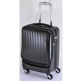エンドー鞄:FREQUENTER CLAM 4輪キャリー(前開き) クロ 1-210 クロ
