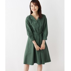 index / インデックス 【洗濯機洗いOK】オープンカラーシャツワンピース