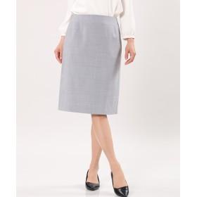 INED ウォッシャブルタイトスカート ひざ丈スカート,グレー1