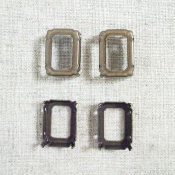 Rhinestone Settings OCTAGON 18x13mm [STG-076]*Sew-on*4個*