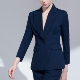 スーツセットアップ黒/青ワンボタンジャケット+パンツ送料込み
