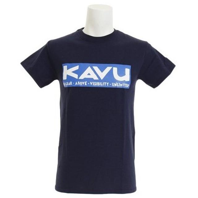 カブー(KAVU) スクエアロゴ Tシャツ Nv Sサイズ  19820624052003 (Men's)