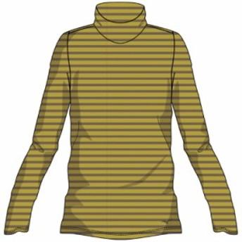 【※返品交換不可】大特価!MIZUNO(ミズノ) ブレスサーモボーダーハイネックシャツ アウトドア アパレル レディース A2MA874047