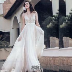 レディース ロング フォーマル ドレス ワンピースレース ウェディングドレス  刺繍 大きいサイズ 結婚式 二次会 卒業式 卒園式 演奏会
