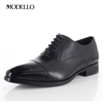 マドラス モデロ madras MODELLO DM5121 BLA メンズ フォーマル ビジネスシューズ ストレートチップ 内羽根式 革靴 3Eブラック