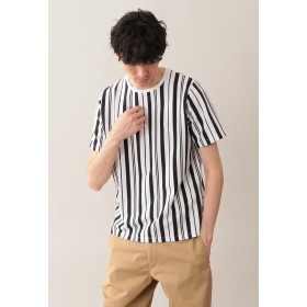 MACKINTOSH PHILOSOPHY サーフニットストライプ MPクルーネック半袖Tシャツ Tシャツ・カットソー,ネイビー