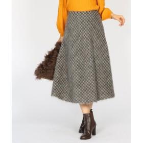 aquagirl / アクアガール シャギーチェックサーキュラースカート
