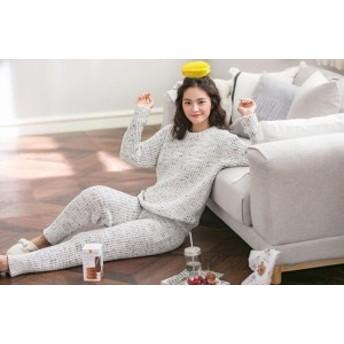 レディース 冬 女の子 部屋著 著る毛布 上下セット ルームウェア ふわもこパジャマ パジャマ 長袖