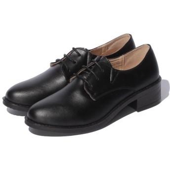 【60%OFF】シュークロシンプルレースアップローファーレディースブラックL【Shoes in Closet】【セール開催中】
