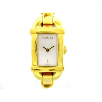 【中古】 グッチ GUCCI 腕時計 美品 バンブー 6800L レディース アイボリー