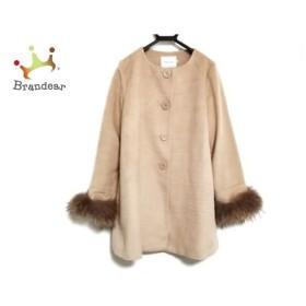 クチュールブローチ CoutureBrooch コート サイズ38 M レディース ベージュ 冬物/ファー 新着 20190412
