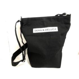 【中古】 ディーンアンドデルーカ DEAN & DELUCA ショルダーバッグ 美品 黒 白 キャンバス