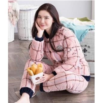 パジャマ レディース ルームウェア 女の子 部屋著 長袖 上下セット 著る毛布 ふわもこパジャマ 冬
