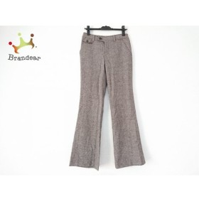 ニジュウサンク 23区 パンツ サイズ38 M レディース ダークブラウン×白   スペシャル特価 20190731