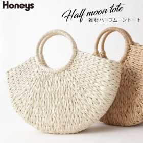 Honeys ハニーズ 雑材ハーフムーントート
