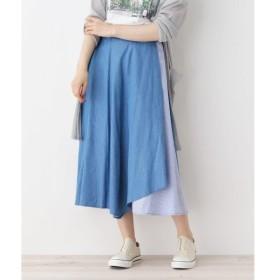 SHOO・LA・RUE / シューラルー デニム切り替えイレヘムスカート