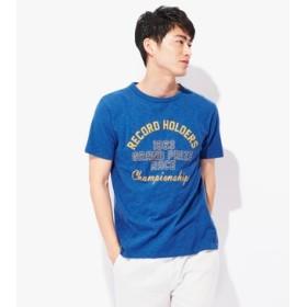 Champion 「ロチェスター」プリントTシャツ メンズ ブルー