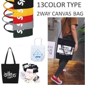 大HIT!人気沸騰のトレンドバッグが待望の再販開始 2WAY CANVAS BAG トートバッグ ショルダー BAG メンズバッグ かばん レディース プレゼント