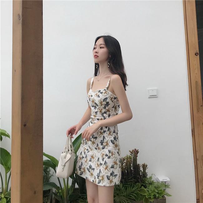 FOFU-連身裙復古顯瘦百搭碎花吊帶連身裙【08G-M0829】