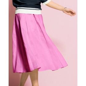 21番リネン・ウエストギャザースカート