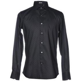 《期間限定セール開催中!》HIMON'S メンズ シャツ ブラック 43 コットン 100%