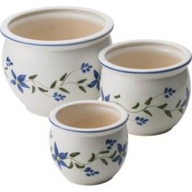 陶器植木鉢3点セット 台所 日用品 収納 DIY用品 園芸用品 UH02/3FB3(代引不可)