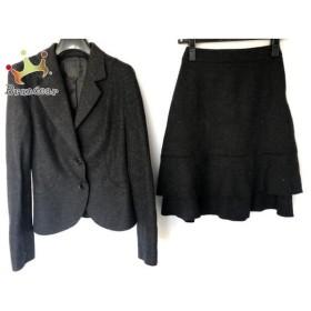 アンタイトル UNTITLED スカートスーツ サイズ1 S レディース 美品 ダークグレー    値下げ 20191005
