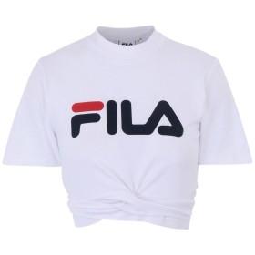 《期間限定 セール開催中》FILA HERITAGE レディース T シャツ ホワイト M コットン 93% / ポリウレタン 7% WOMEN ROXY belted top