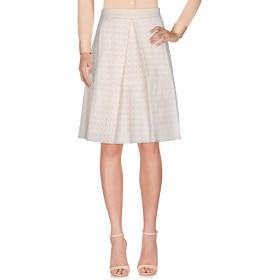 《送料無料》LES COPAINS レディース ひざ丈スカート アイボリー 40 コットン 76% / シルク 24%