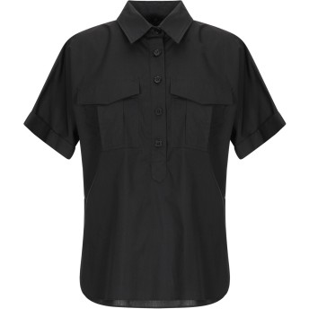 《セール開催中》COMPAGNIA ITALIANA レディース シャツ ブラック 42 コットン 100%