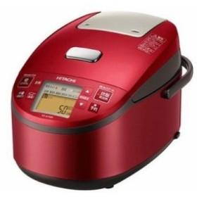 日立 RZ-AX10M-R 5.5合炊き『黒厚鉄釜』圧力スチームIH炊飯器(メタリックレッド) (RZAX10MR)