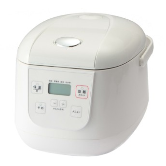 マイコン炊飯器 3.5合炊き HC-RCM013(WH) ホームコーディ ホワイト 3.5合(0.63L) 炊飯器・ホームベーカリー