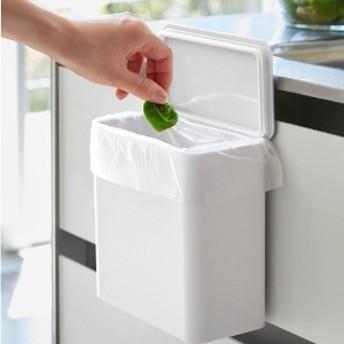 マグネット・フック対応 コンパクトなフタ付きゴミ箱