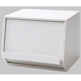 YAMAZEN(山善) 木製オープンボックス 幅400×奥行340×高さ310mm ジョイホワイト CSB-3140D(JW) 1台 (直送品)