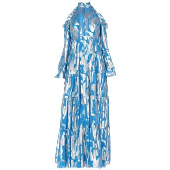 《セール開催中》LEITMOTIV レディース ロングワンピース&ドレス アジュールブルー 42 シルク 66% / ポリエステル 34%