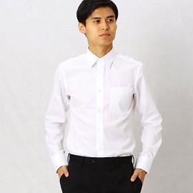 <COMME CA MEN > 形態安定ブロードドビードレスシャツ(0708HI05) シロ 【三越・伊勢丹/公式】