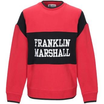《期間限定セール開催中!》FRANKLIN & MARSHALL メンズ スウェットシャツ レッド S コットン 100%