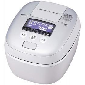 タイガー 炊飯器 圧力IH式 炊きたて 5.5合炊き ホワイトグレー JPC-A101-WH