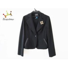 ランバンコレクション LANVIN COLLECTION ジャケット サイズ40 M レディース 黒  値下げ 20190610