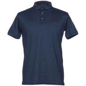 《期間限定セール開催中!》ROBERTO CAVALLI メンズ ポロシャツ ダークブルー XL 100% コットン