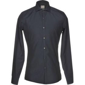 《期間限定セール開催中!》ROSSO MALASPINO メンズ シャツ ダークブルー 42 コットン 100%