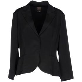 《セール開催中》SEVENTY SERGIO TEGON レディース テーラードジャケット ブラック 46 シルク 94% / ポリウレタン 6%