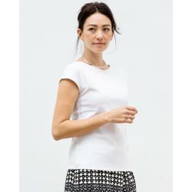 ドゥクラッセTシャツ・浅Vネックフレンチ袖