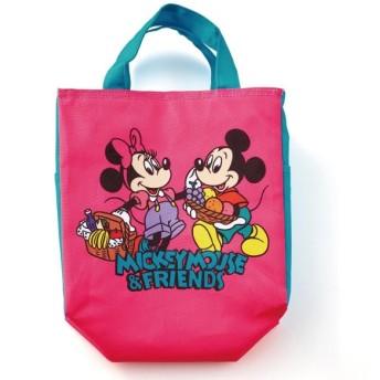 お弁当箱 お弁当用袋 ディズニー マンガのようなスクエア保冷バッグ カラー 「ミッキー&フレンズ」