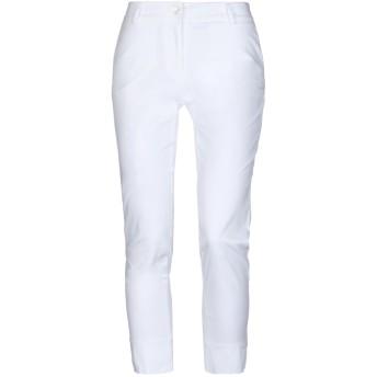 《セール開催中》MOUCHE レディース パンツ ホワイト 44 コットン 98% / ポリウレタン 2%
