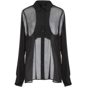 《期間限定セール開催中!》PINKO レディース シャツ ブラック 44 シルク 100% / レーヨン / ポリエステル