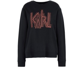 《送料無料》KARL LAGERFELD レディース スウェットシャツ ブラック M コットン 100%