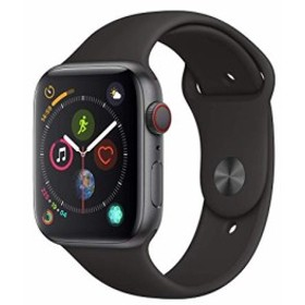 AppleWatch Series4(GPS+Cellularモデル)- 44mmスペースグレイアルミニウムケースとブラックスポーツバンド