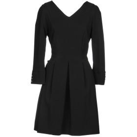 《セール開催中》MANILA GRACE レディース ミニワンピース&ドレス ブラック 40 ポリエステル 90% / ポリウレタン 10%